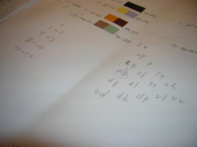 カラーコーディネーター検定の問題用紙