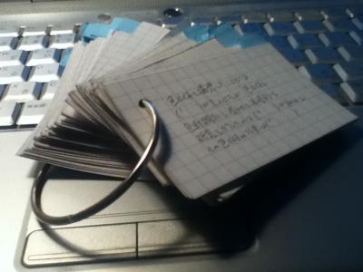 手製の暗記カード