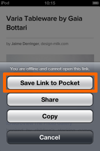 Save Link to Pocket(Pocketにリンクを保存する)