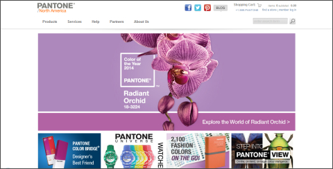 Pantone(パントン)ホームページ