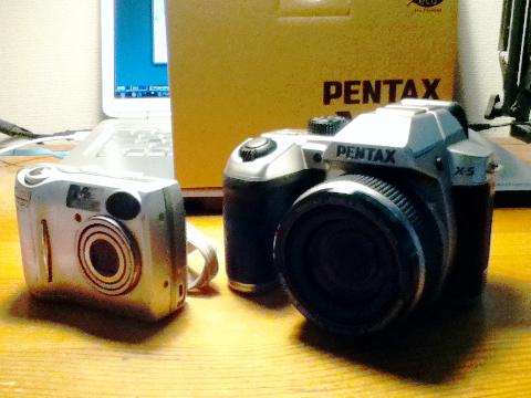 PENTAX X-5 と Nikon COOLPIX