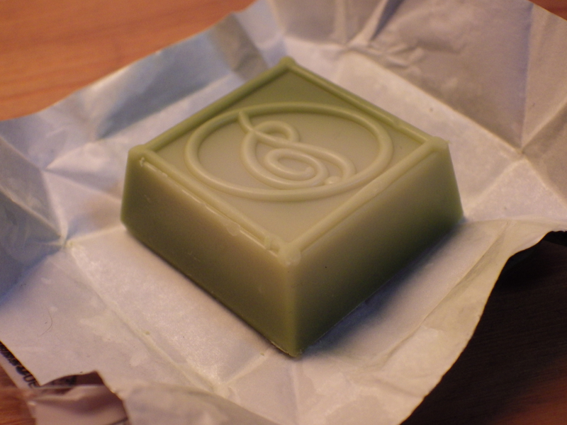 抹茶とホワイトチョコのグラデーション