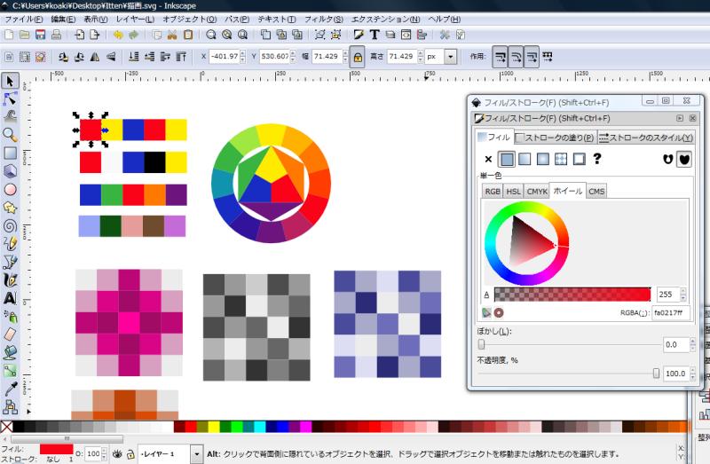 inkscapeで作成した図表