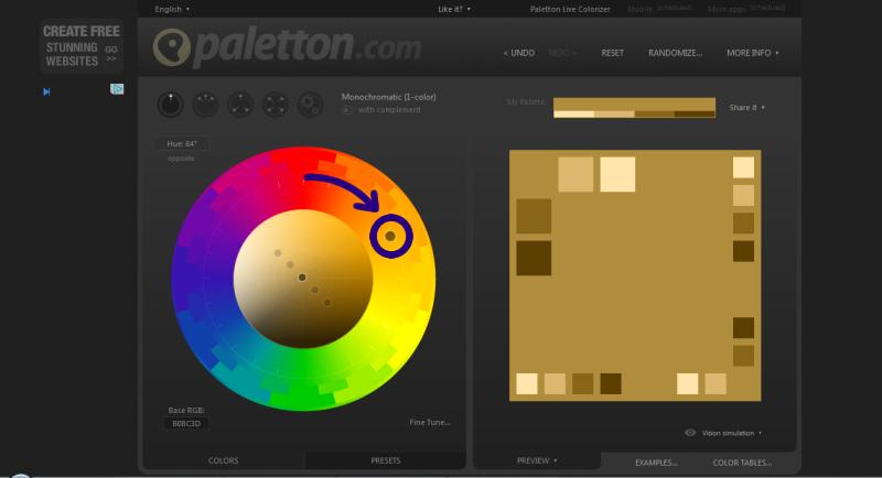 Palettonの色相を変更