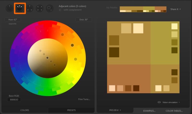 Adjacent Colors(隣接色相)
