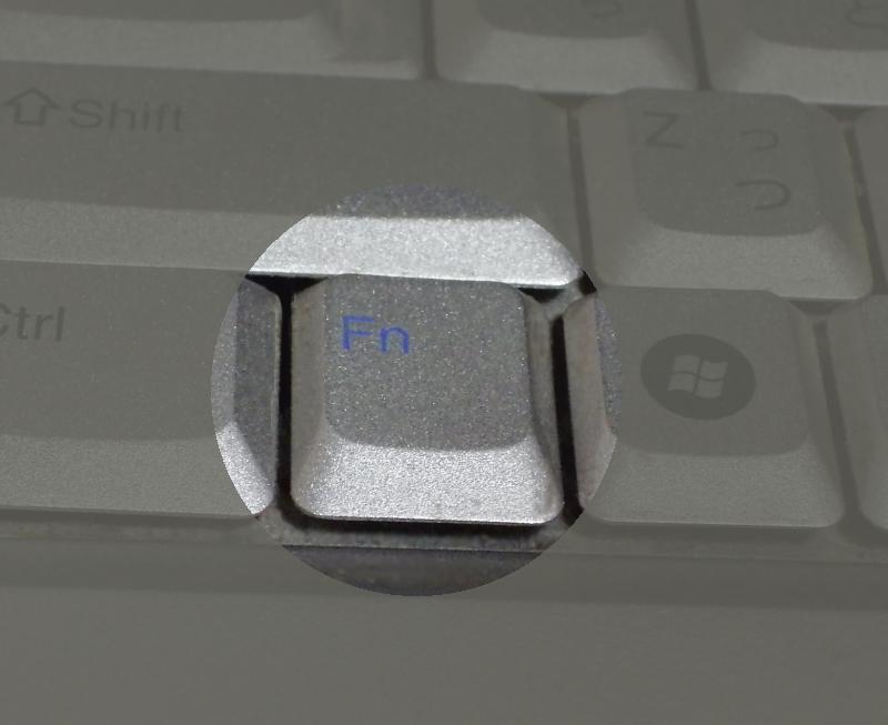先代パソコンの[Fn]キー