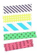 お裾分けマスキングテープの並べ方(鮮やか)