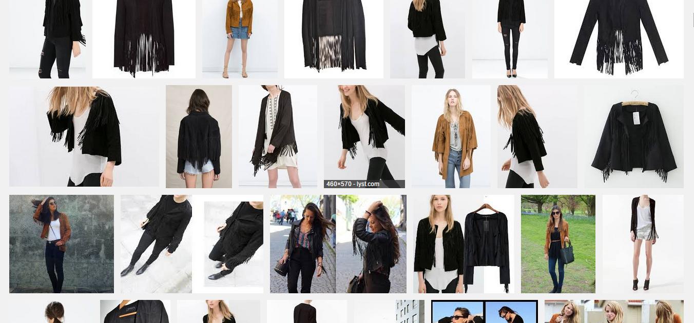 「fringed jacket zara」の画像検索結果