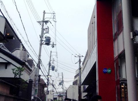 阪急岡本駅前のコープ