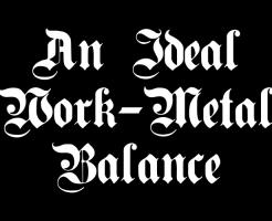 work-metal balance
