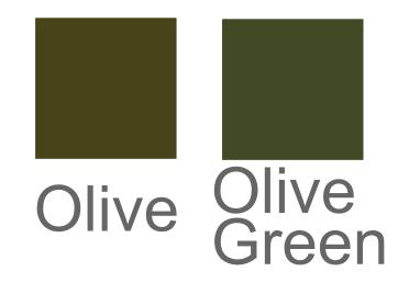 オリーブ色とオリーブグリーン