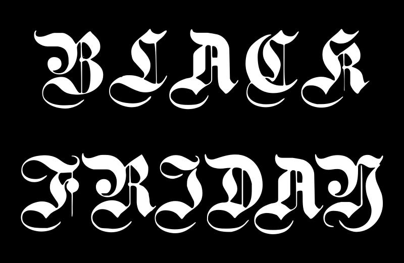 ブラックフライデーのイラストの描き方