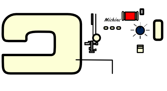 ミシンのイラストのメイキング
