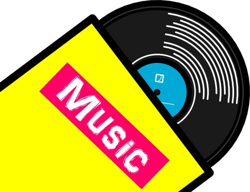 レコード盤のイラスト—3月20日はLPレコードの日