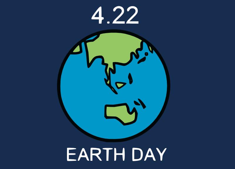 4月22日はアースデー。地球の無料イラストあります