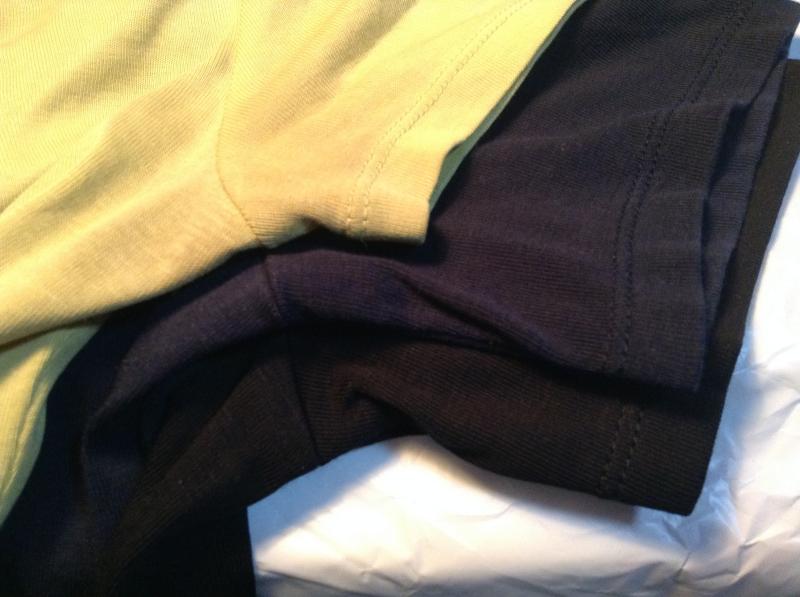 スーピマコットン 袖の長さ 比較2