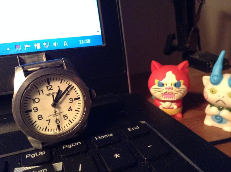 検定当日に時計が止まった