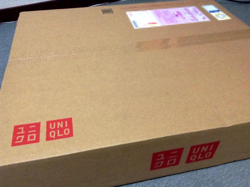 ユニクロの通販の箱