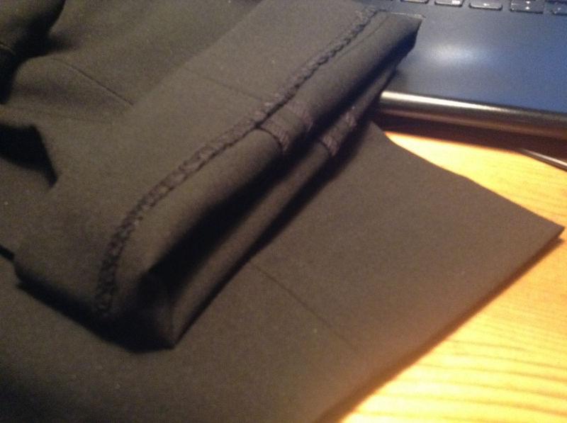 ユニクロストレッチパンツ 裾仕上げ「まつり」
